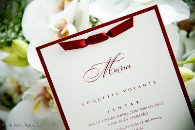 Cardápio para casamento